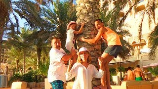 24 часа На ОСТРОВЕ Челлендж Летим в Дубай ОБЛОМ в ресторане КАНИКУЛЫ Насти и Саши Влог