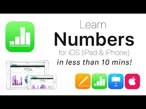 Complete Numbers for iOS Tutorial - Full quick class/guide + EXTRAS! iPad & iPhone