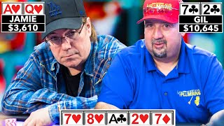 Jamie Gold's Flush Goes Down the Drain ♠ Live at the Bike!