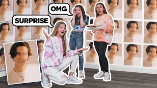 I Filled My BEST FRIENDS Room With Pictures of Her Celebrity TIK TOK Crush **PRANK**|Emily Dobson