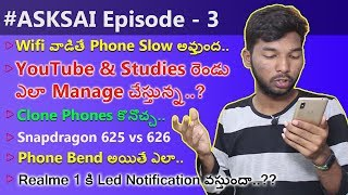 #ASKSAI Ep-3 | My Studies,Nokia X6 vs Mi A2 ,Nokia X6 Price,Oppo A3s worth Buying..?