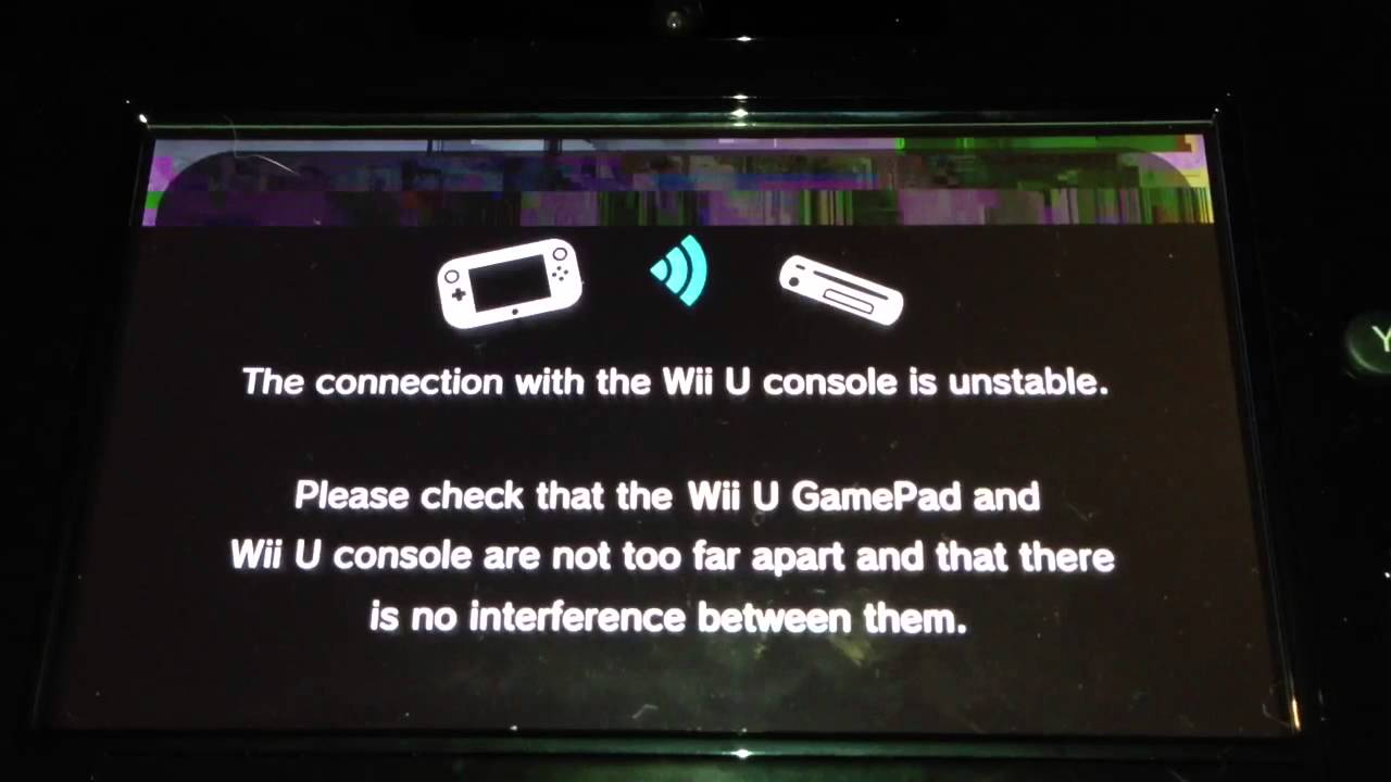 Wii U Game Pad Connection Problems