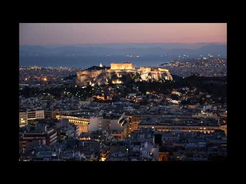 Athens Sunset timelapse Acropolis
