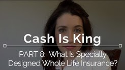 Cash Is King: Part 8 - What is Specially Designed Life Insurance?
