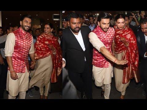 Deepika Padukone Hand In Hand With Husband Ranveer Singh Deepika In Sindoor And Mangalsutra Avatar Youtube