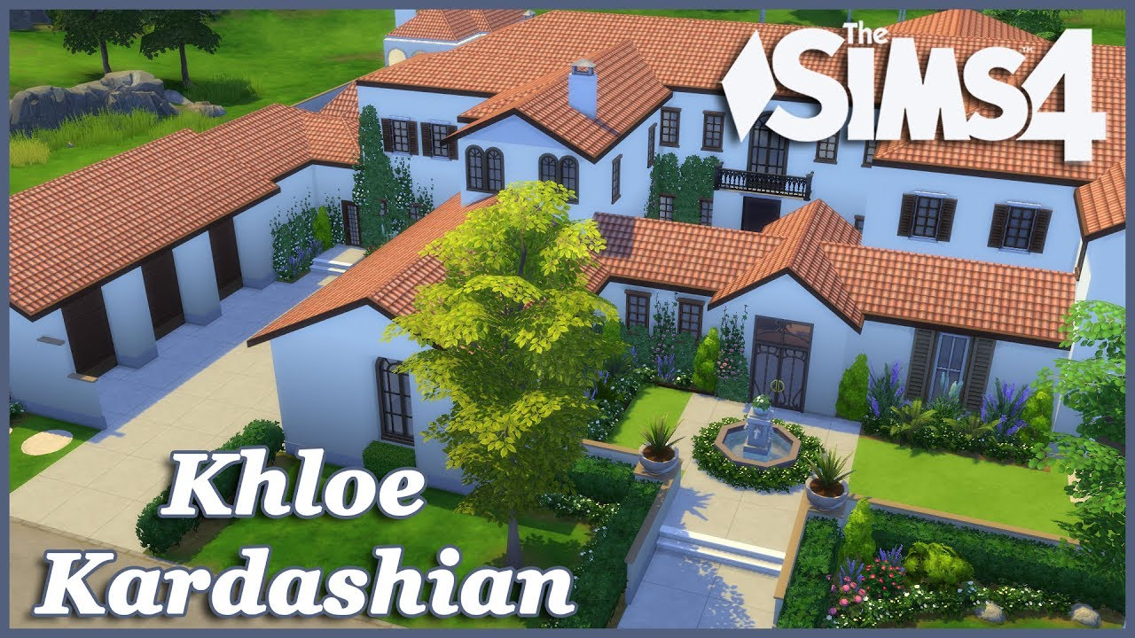 The Sims 4 Khloe Kardashian House Build Part 1 Youtube