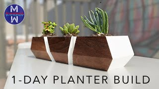 DIY Modern Planters for Succulents || woodworking