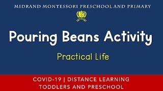 Montessori Practical Life Presentation - Pouring Beans