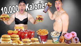 WER SCHNELLER 10.000 KALORIEN SCHAFFT - CHALLENGE !!! | PrankBrosTV