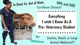 Things I Wish I Knew As A Pre-Vet Student   Before Vet School Tips