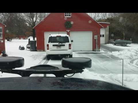 Plowing A Driveway With A Fisher X-Blade
