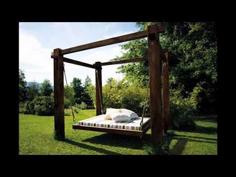 Кровать качалка для дачи и сада своими руками