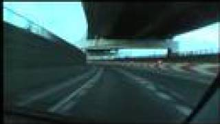 阪神高速道路 4号湾岸線 大浜出口→天保山JCT 2008/02/24撮影