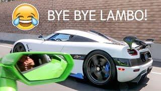 Koenigsegg DESTROYS Cocky Lamborghini LOL! thumbnail
