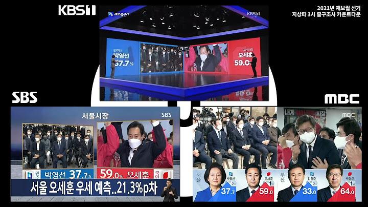 [2021년 재보궐선거] 지상파 3사 출구조사 모음