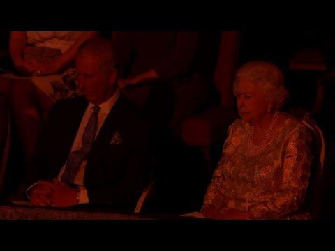 Queen Elizabeth II attends concert for her 92nd birthday