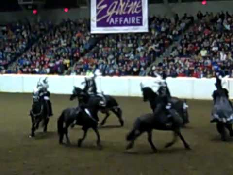 Medieval Fantasy Friesian Horse Drill Team Youtube