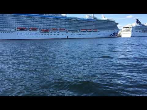 Massive cruise ship in Halifax