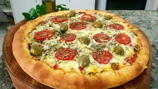 Pizza Caseira com Borda Recheada – Massa Profissional Feita em Casa