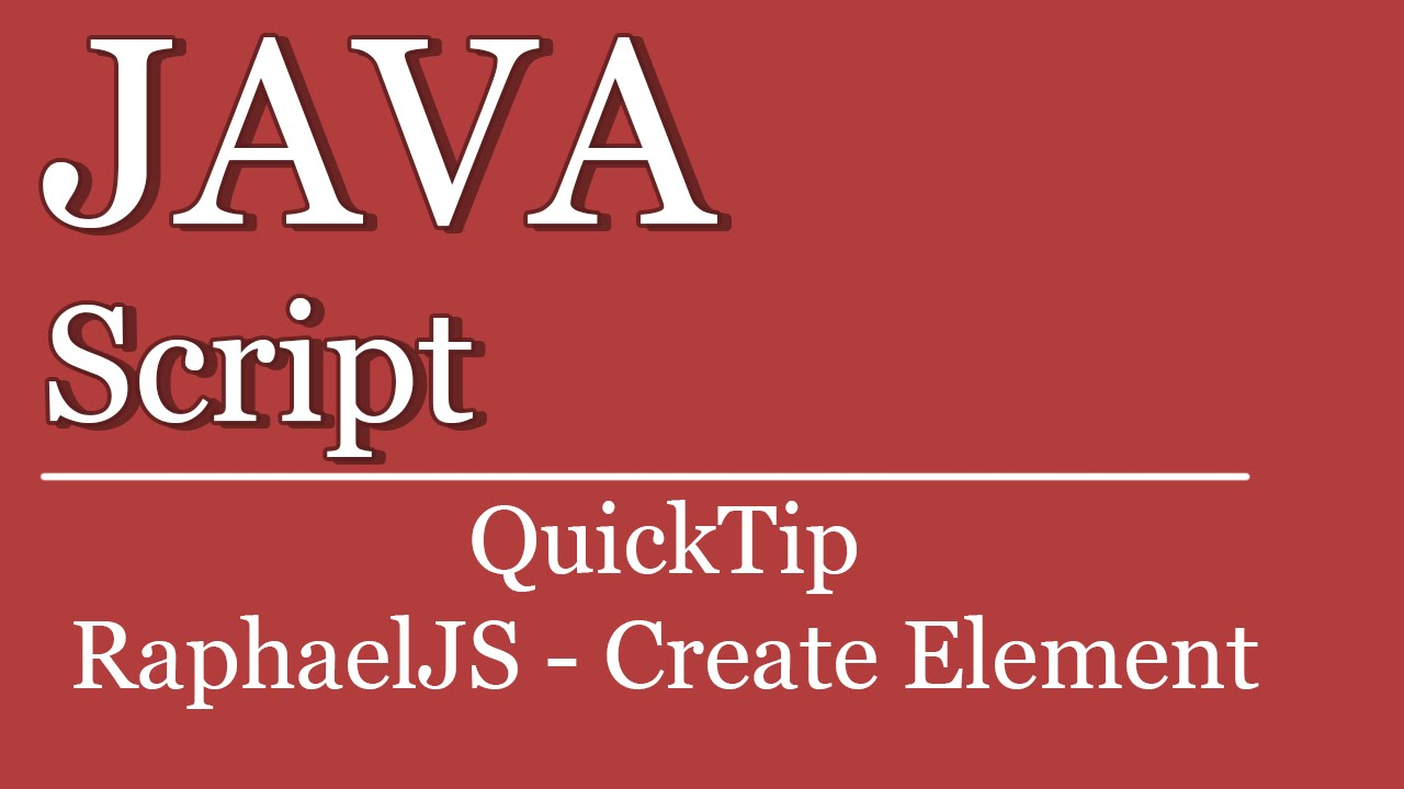 QuickTip #207 - JavaScript SVG Tutorial - Raphael JS CreateElement