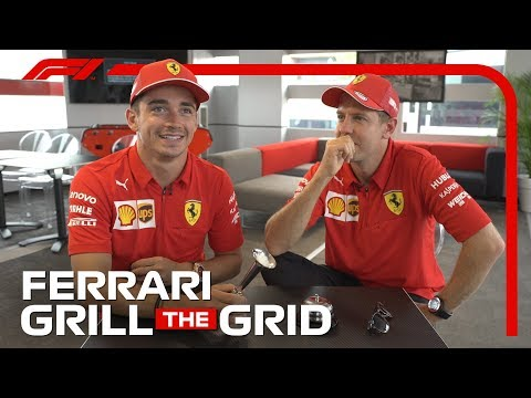Ferrari's Charles Leclerc and Sebastian Vettel! | Grill The Grid 2019