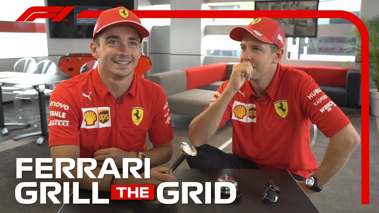 Ferrari's Charles Leclerc and Sebastian Vettel! | Grill The Grid 2019