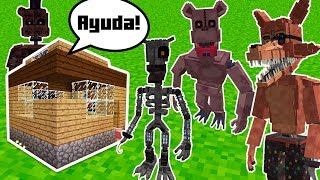 Minecraft  Animatrónicos de FNAF VS BASE toda fea! | Five Nights at Freddy's MOD