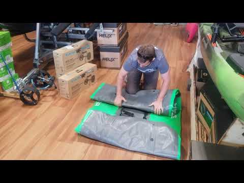 How To Pack A STAR Pike Or Paragon Inflatable Kayak Back In The Bag.