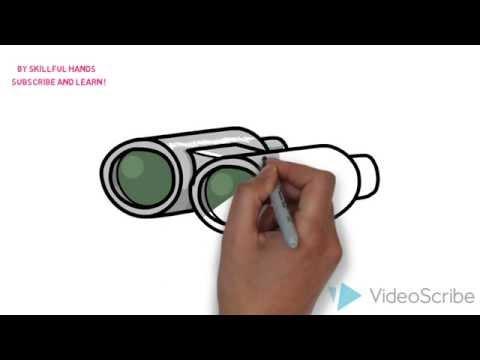 Как нарисовать бинокль