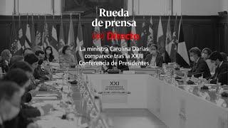 🔴 DIRECTO | La ministra Carolina Darias comparece tras la XXIII Conferencia de Presidentes