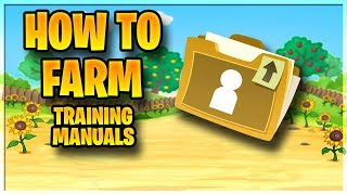 how to farm training manuals farming guide fortnite save the world - fortnite save the world training manuals
