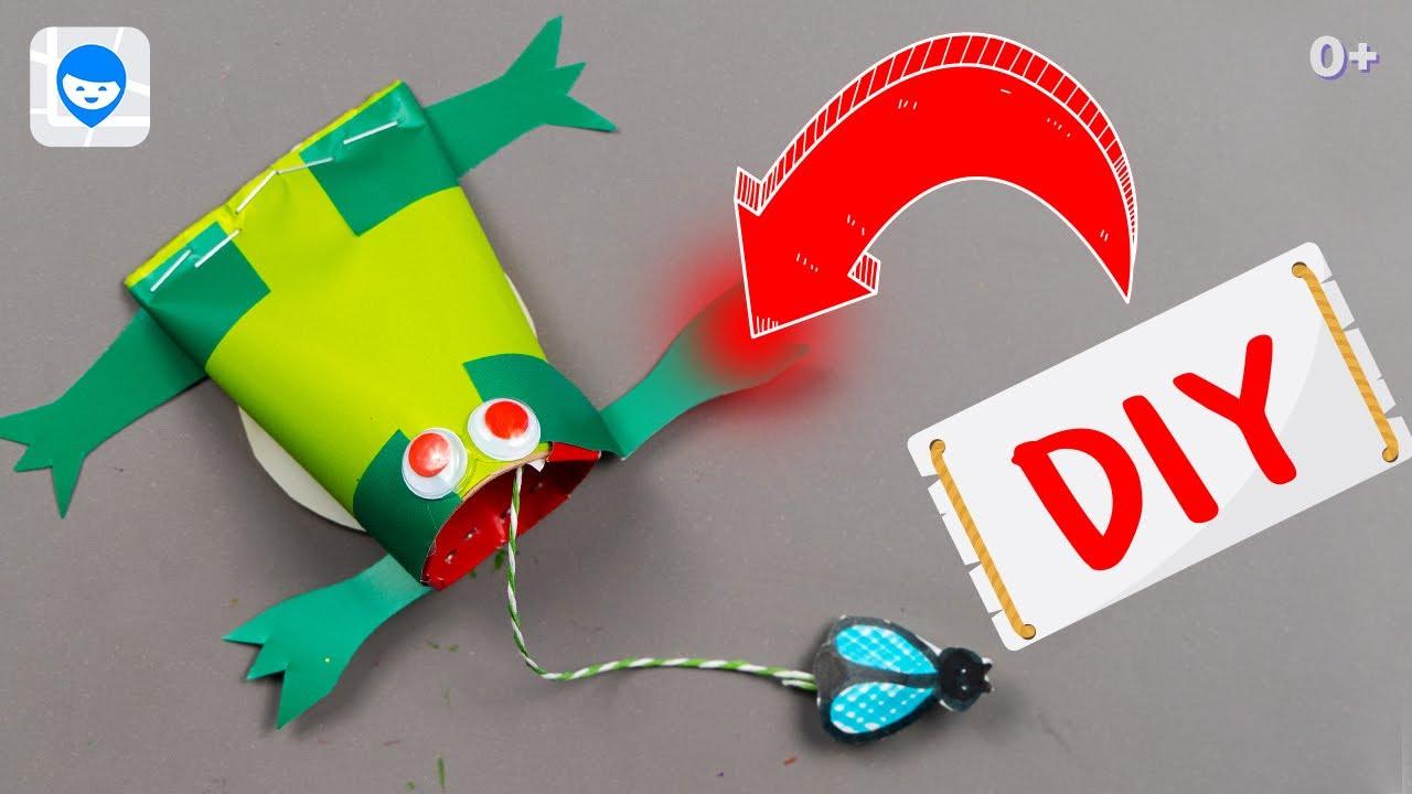 Как сделать капкан из картона ? DIY Лягушка-ловушка своими руками💫 Самодельные игрушки из втулок