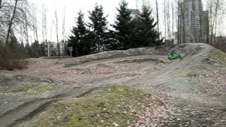 Goped TRQ Electric drive doing jumps at the BMX track    trail ripper quad