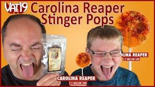Carolina Reaper Sucker Challenge Vat19, Stinger Pop Lollipops : Crude Brothers