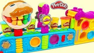 Feeding Mr. Play Doh Head Using the Magic Play Doh Mega Fun Factory Playset!