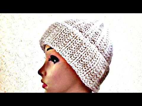 Как связать шапку токари спицами