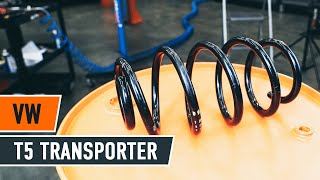 Kā nomainīt priekšas atsperes VW T5 TRANSPORTER Van [AUTODOC VIDEOPAMĀCĪBA]