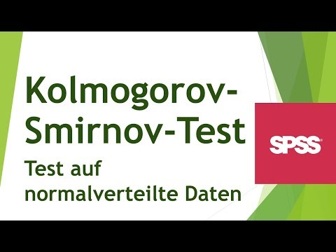 Test of Normality (Kolmogorov-Smirnov) Using SPSS from YouTube · Duration:  4 minutes 24 seconds