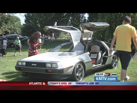 DeLorean stands out at Joslyn Castle Classic Car Show