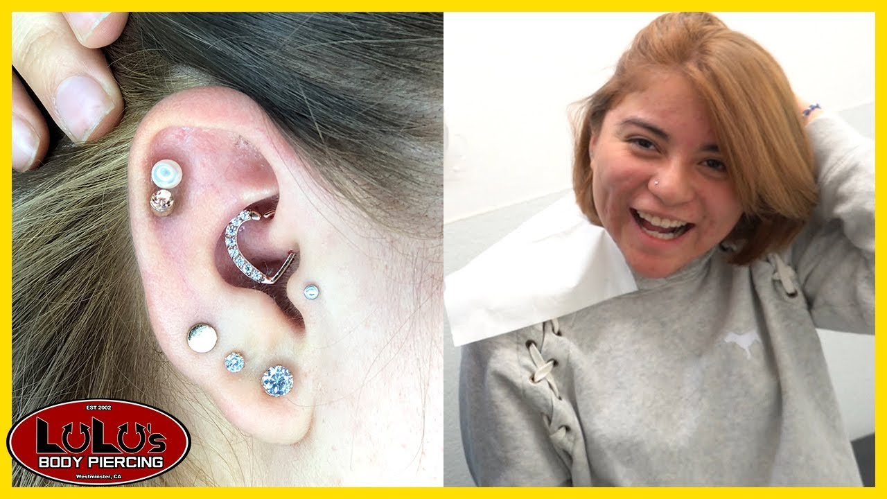 Is The Daith Piercing More Painful With Heart Jewelry Youtube