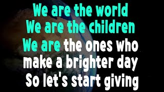 """Karaoke version of we are the world made for my students to practice with. (update 8/12/16) see singing """"we world"""" https://www..co..."""