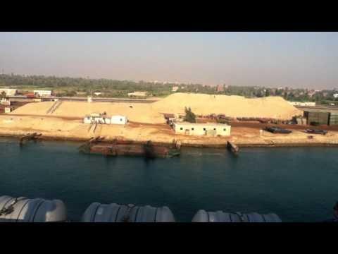Going Through the Suez Canal on an Aircraft Carrier