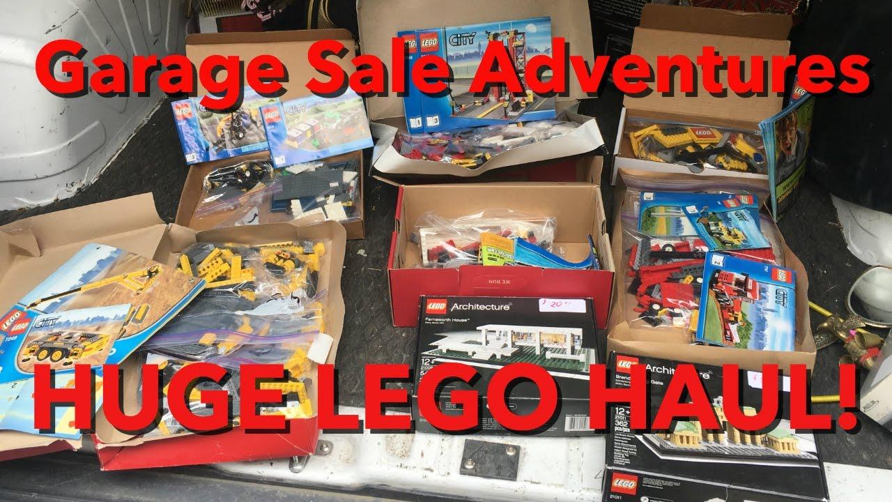 Sale On Legos Garage Sale Adventures Huge Lego Haul Youtube