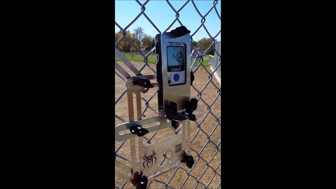 Pocket Radar Fence Mount Test 1 Youtube