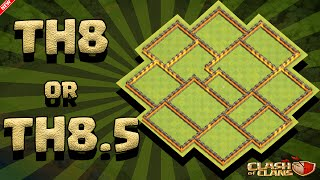 "Clash Of Clans -TH8 OR TH8.5 WAR/FARMING BASE ""SPEED BUILD"""