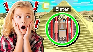 Saving My LITTLE SISTER From PYRAMID PRISON in Minecraft!