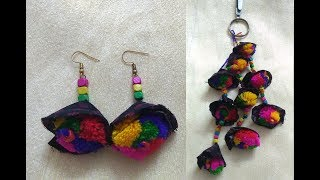 DIY Latkan & Earring How to make Navratri Jewellery/Ornaments I Navratri Craft -3