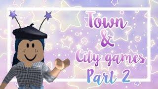 FREE Town & city roblox games PART 2 | HeyLookItsAshley ft. Juiceygreenlemon (Roblox)