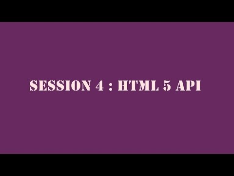 HTML5 & CSS3 - Session 4: HTML5 API in Tamil