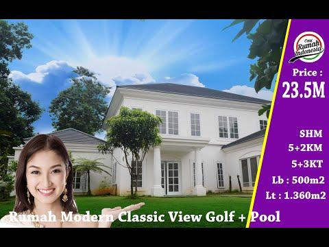 forsale-||-rumah-view-golf-+-pool-desain-modern-classic-seharga-23.5-milyar